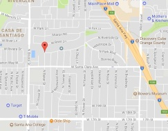 Santa Ana yard sale map